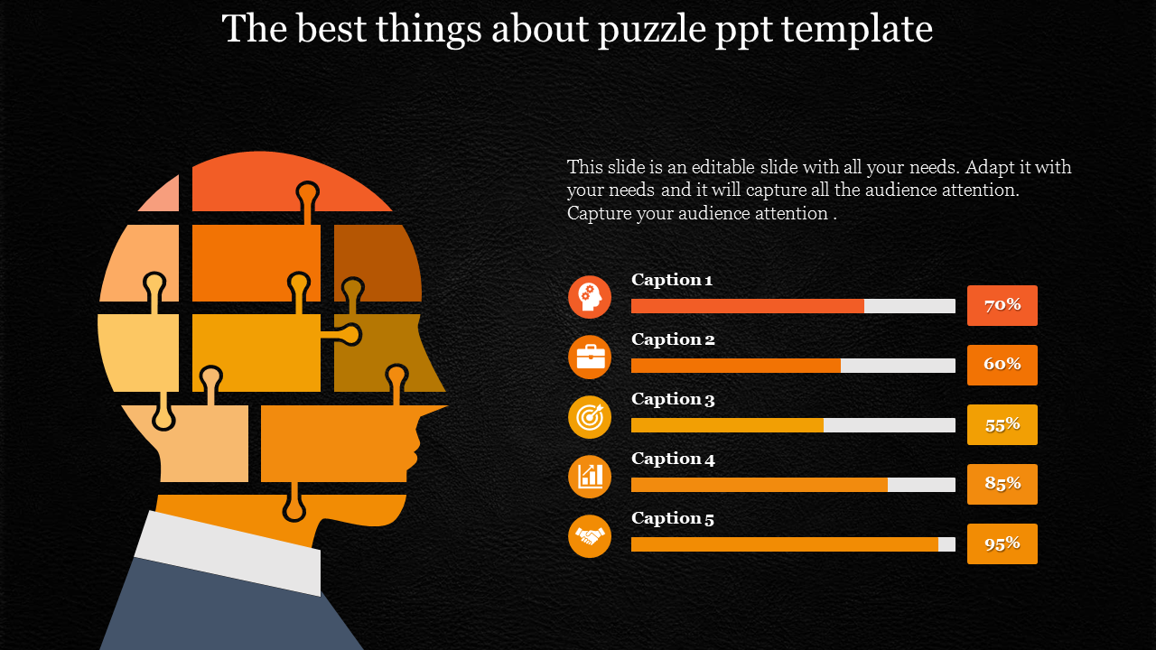 puzzle ppt template - human model