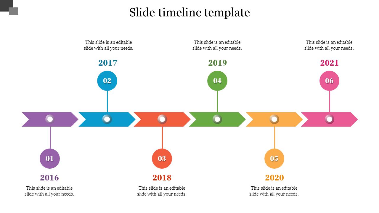Timeline Slide Template from www.slideegg.com