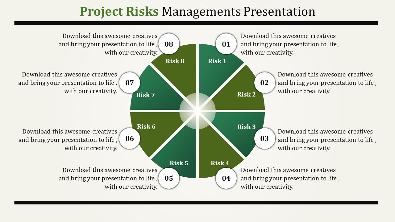 SlideEgg | risk management ppt template-project risks