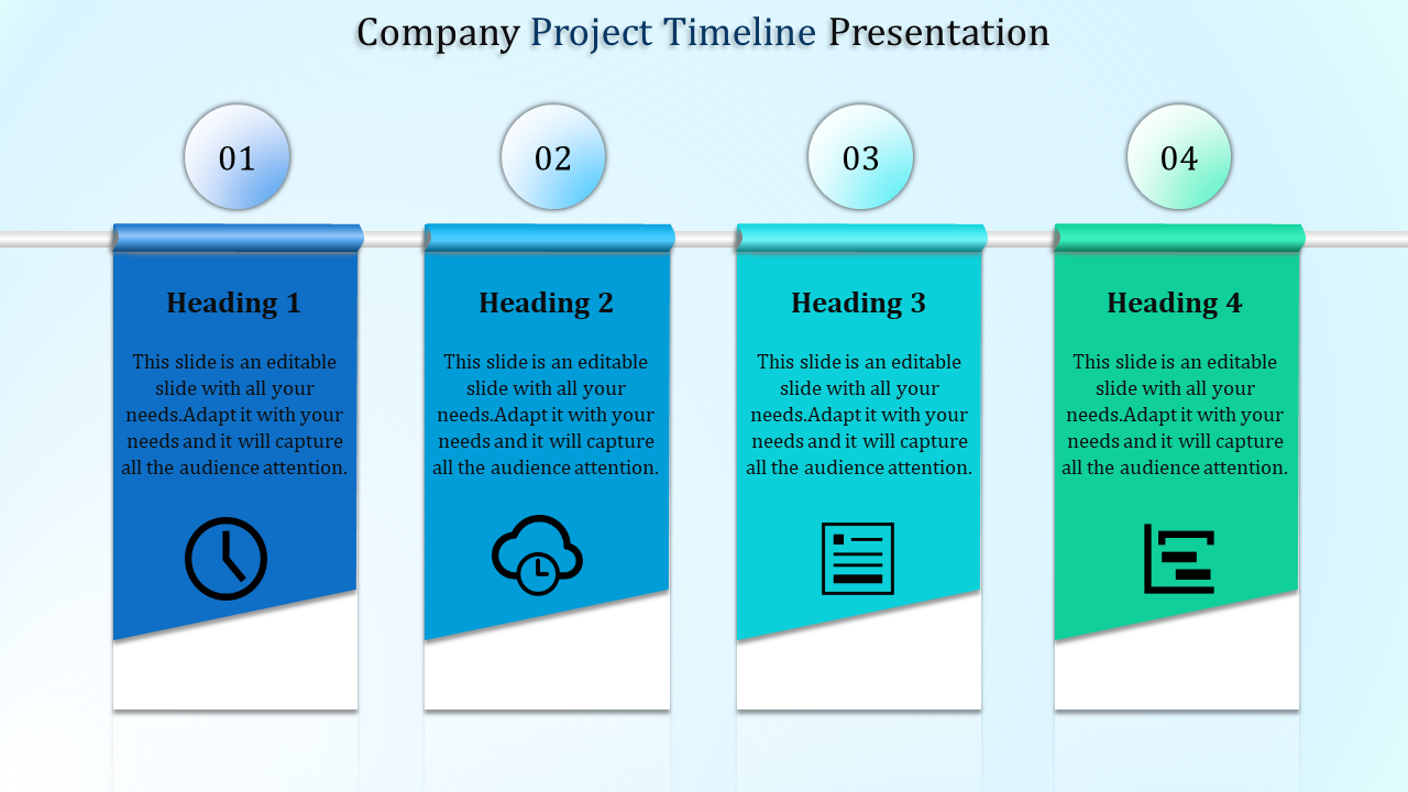 Free - Text Box Model Project Timeline Template Powerpoint