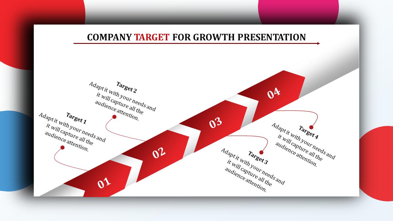 Arrow Design Company Target Powerpoint Presentation