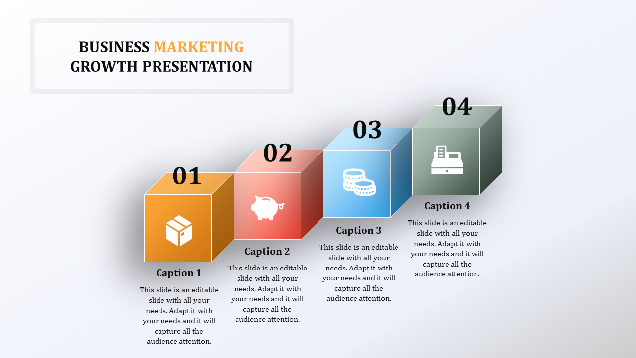 Cube Business Growth PPT Templates