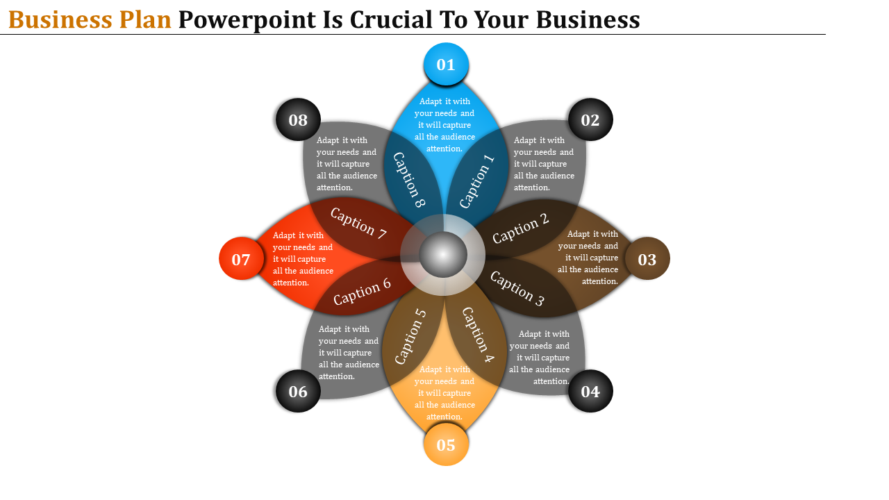 Flower Model business plan powerpoint