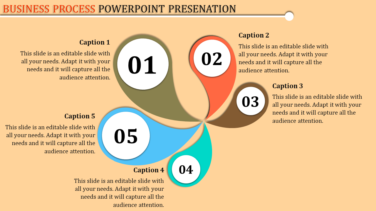 Free-Business Process Template Powerpoint With Creative Design