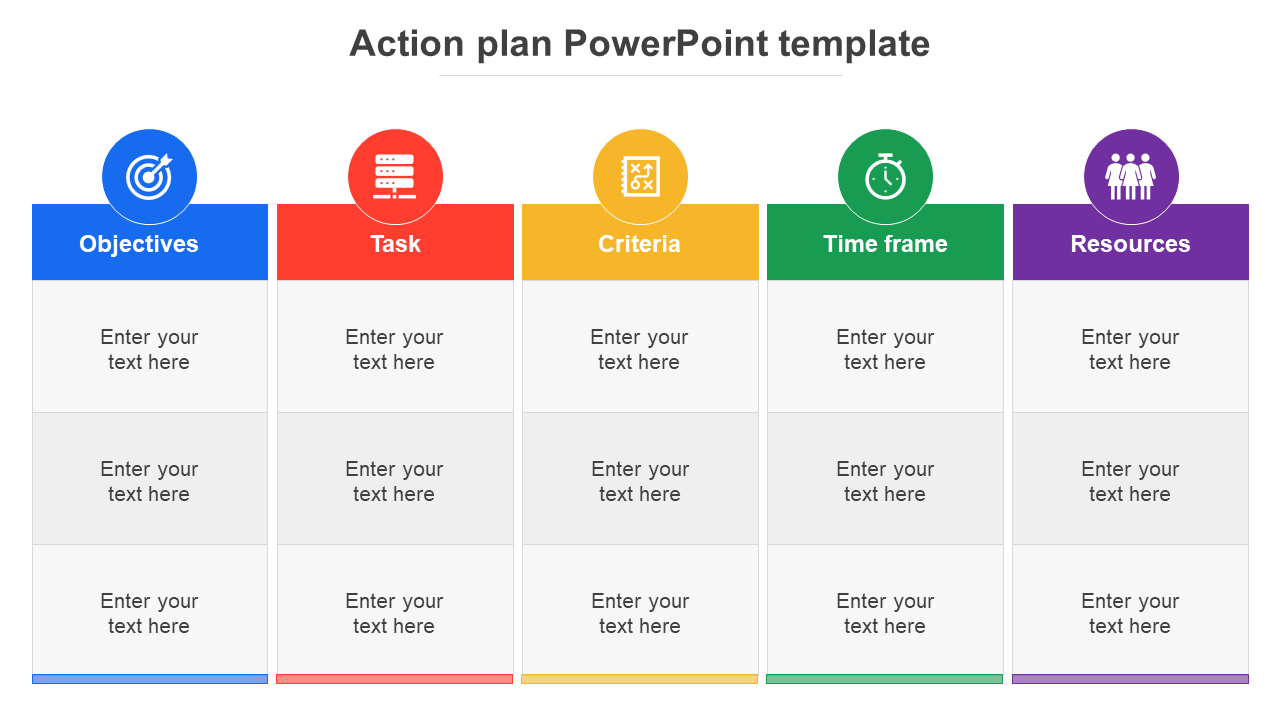 Free-Action Plan Powerpoint Template