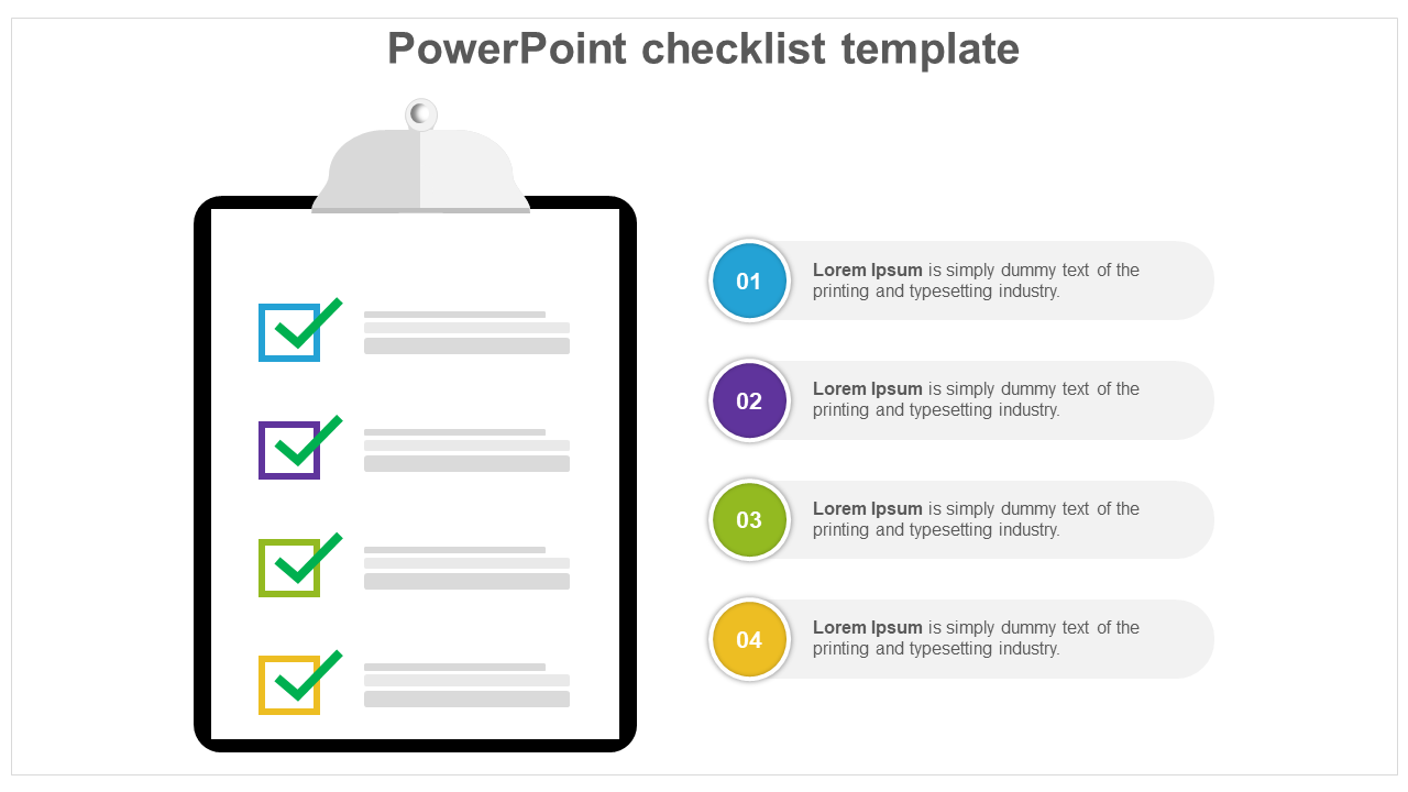Free-Modern Rules Of PowerPoint Checklist Template