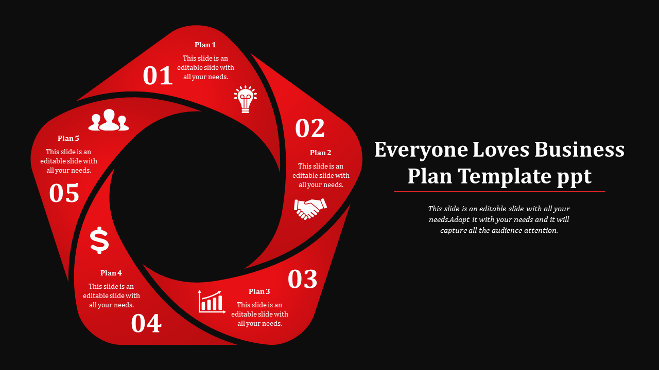 business plan template PPT