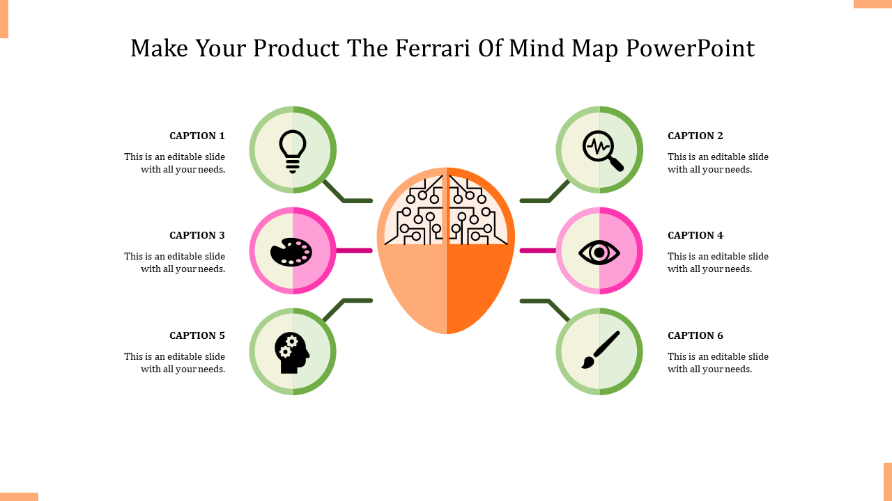 A Six Noded Mind Map Powerpoint
