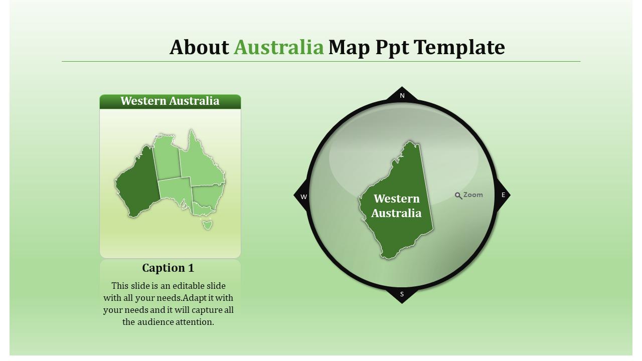 Australia Map Template.Slideegg Australia Map Ppt Template About Australia Map Ppt