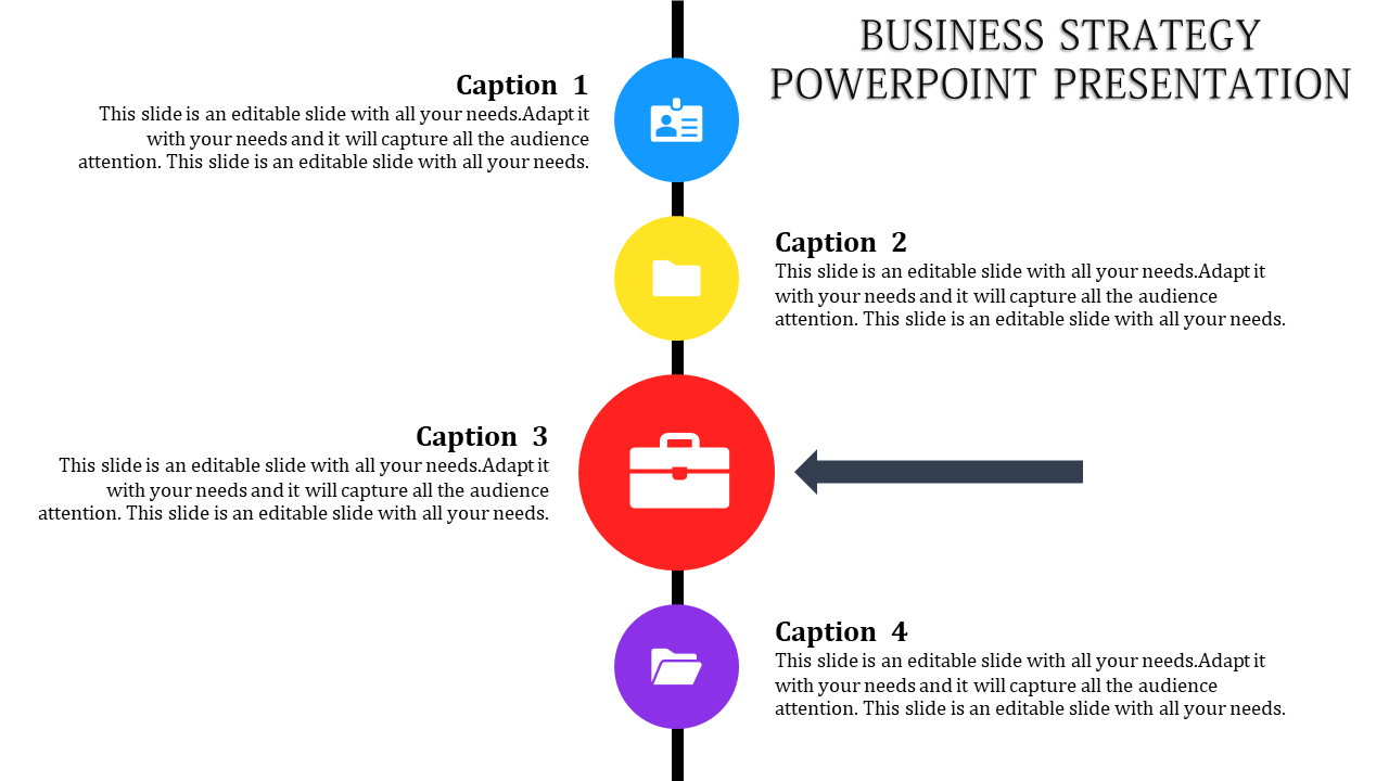 Horizontal Business Strategy PowerPoint Template