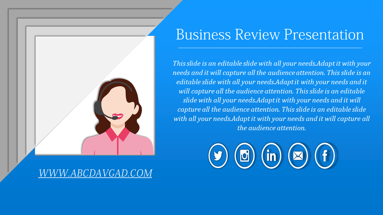 Customer Care Review PPT Template