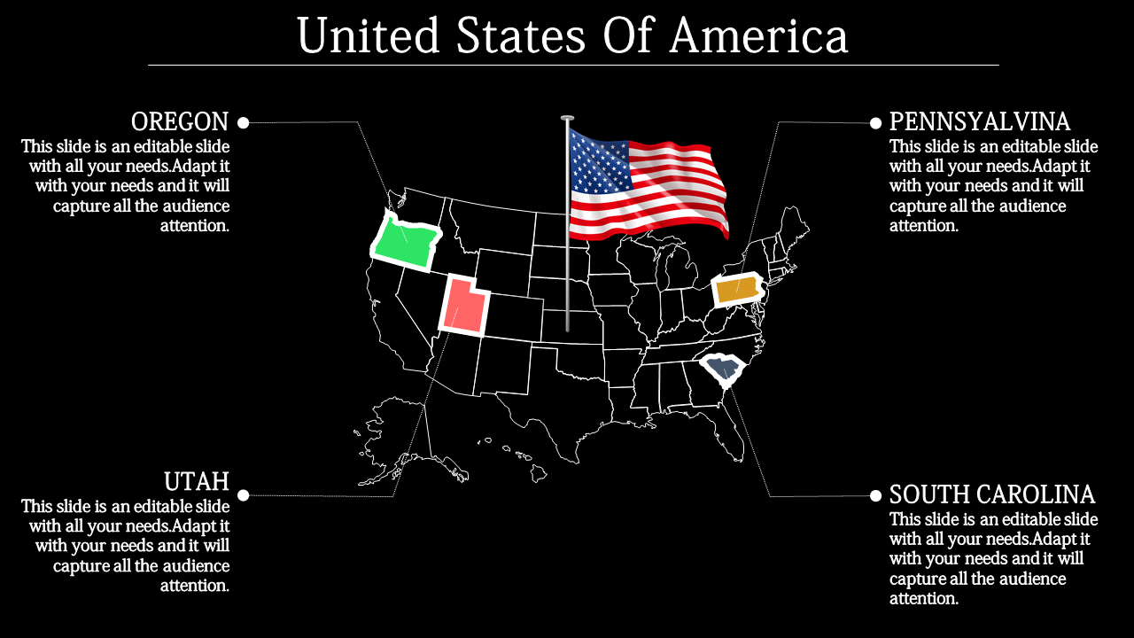 editable powerpoint usa map
