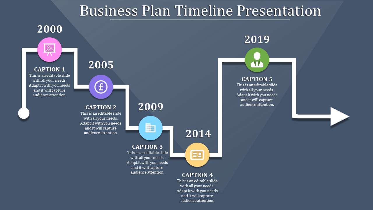 Connected Business Plan Timeline Template