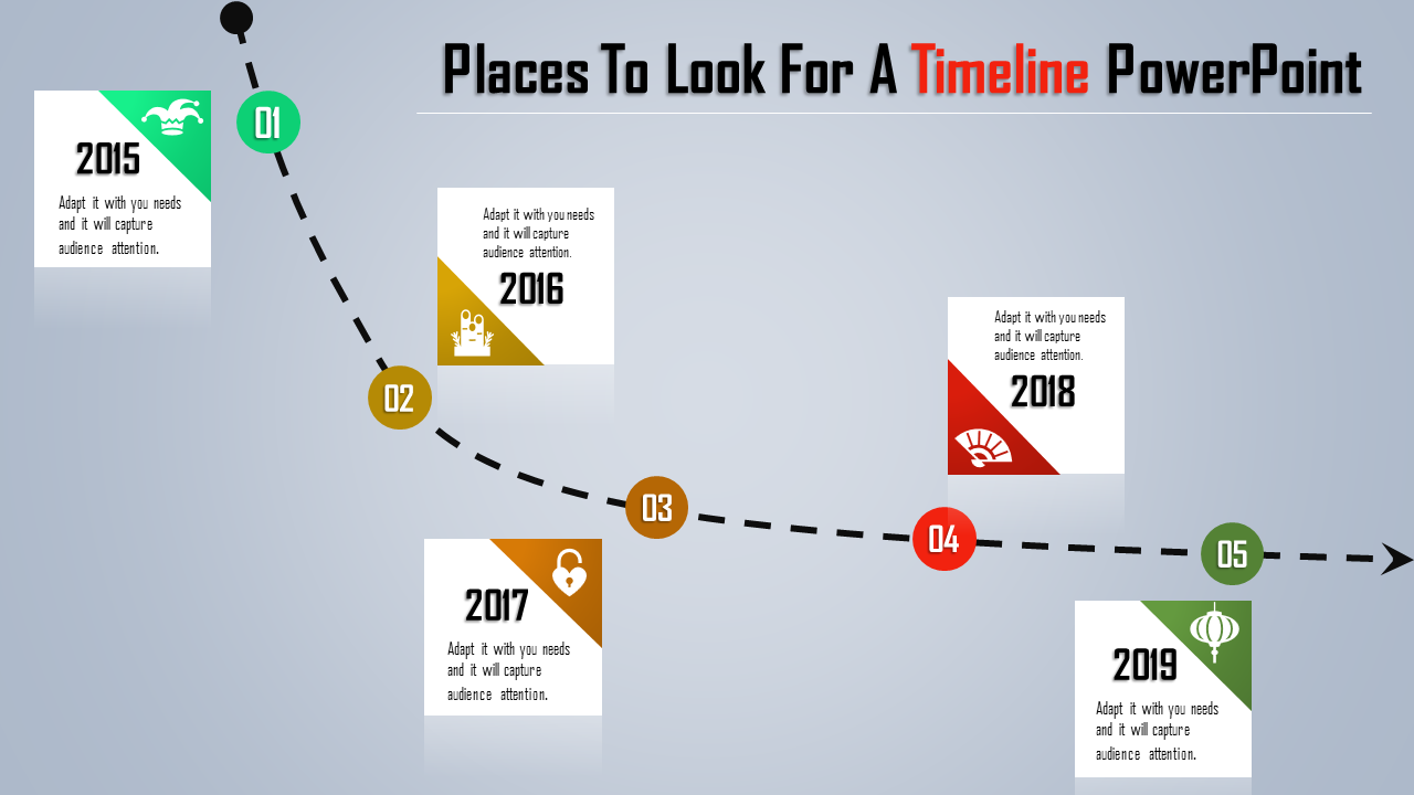 Functional Download Timeline Powerpoint Template