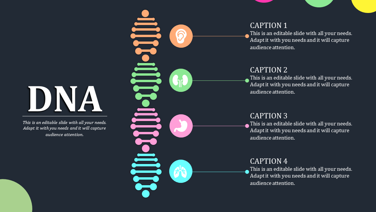Dna Powerpoint Template For Medical