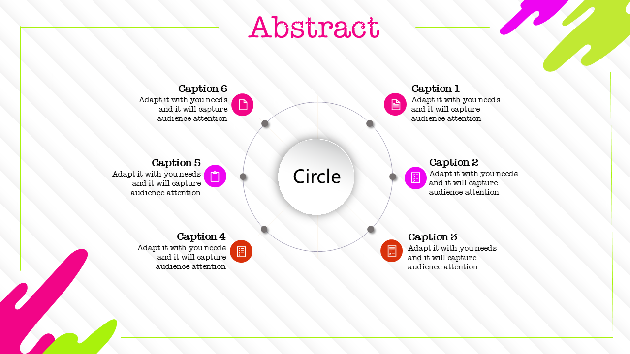 Illsutration Art Abstract Powerpoint Template