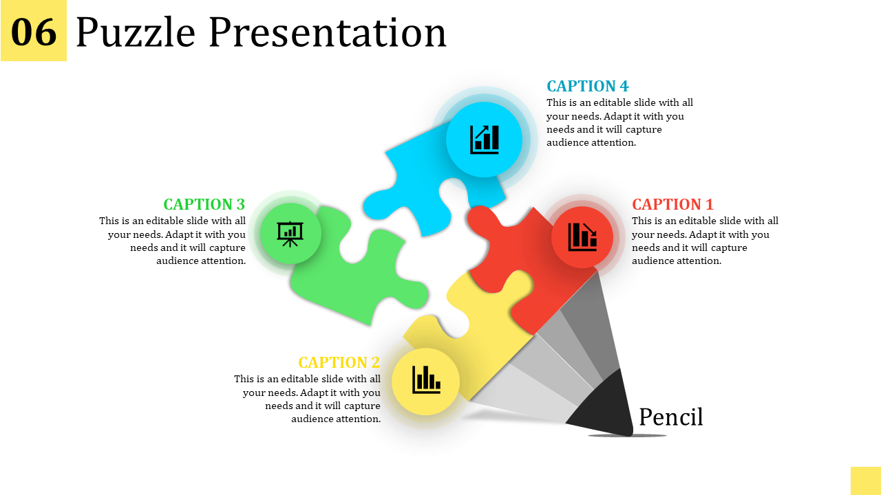 Puzzle Presentation Template - Pencil Model