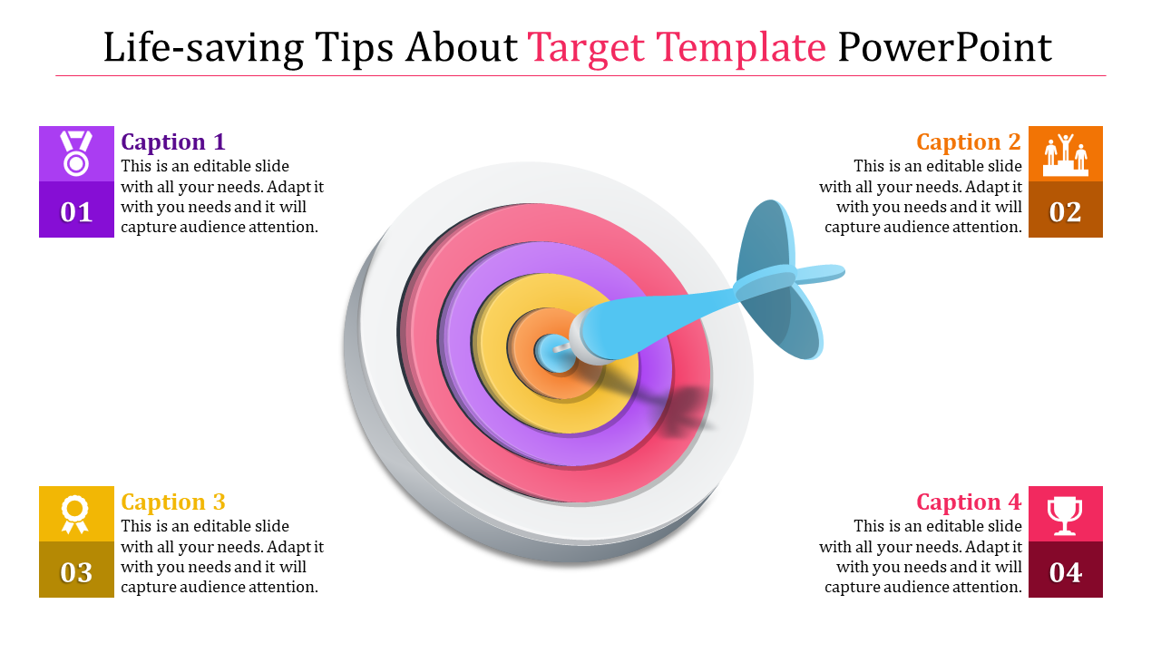 Donut Target Template Powerpoint
