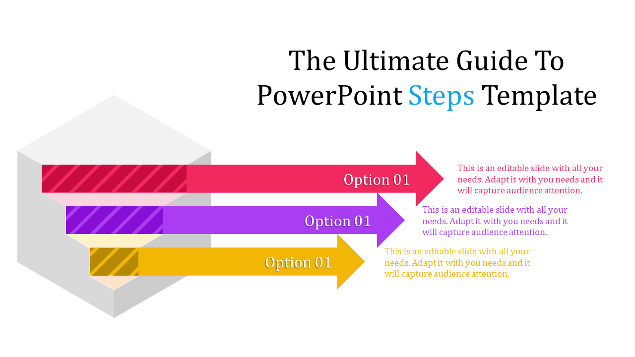 Free - Powerpoint Steps Template With Arrows