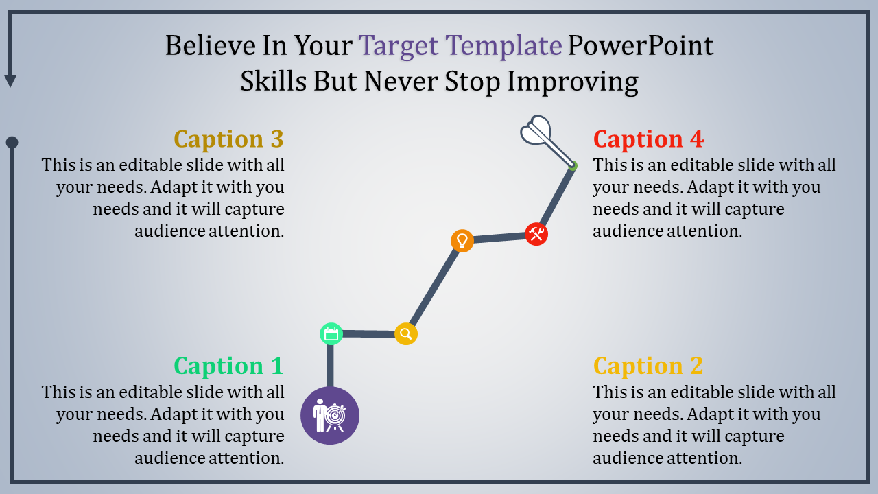 Download Target Template Powerpoint To Reach Your Goal