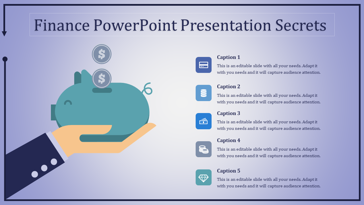finance powerpoint presentation - savings