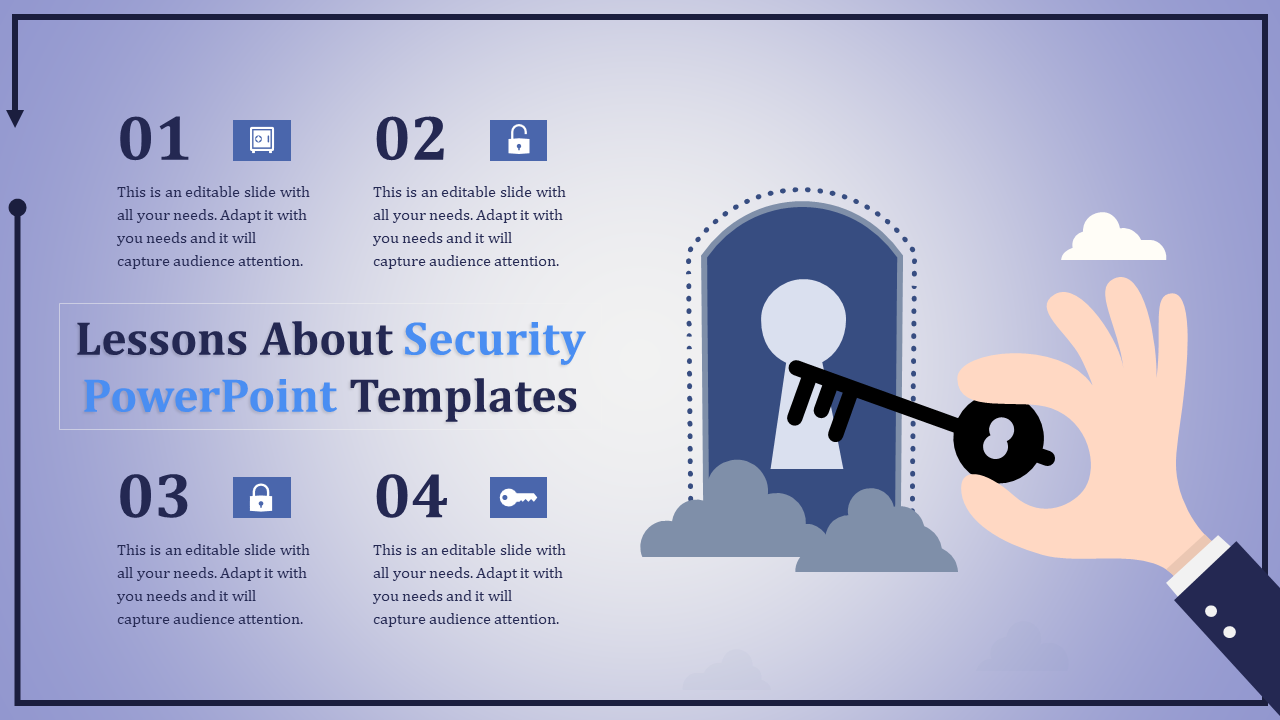 Security Powerpoint Templates Four Stages