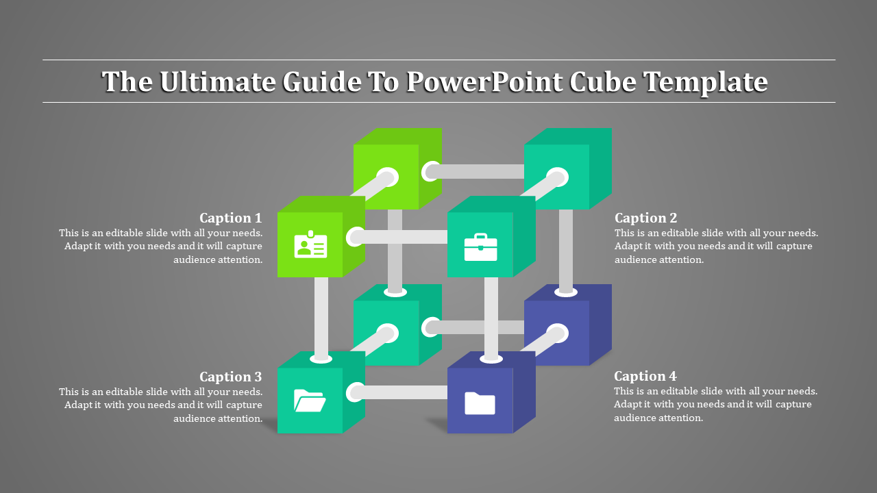 Powerpoint Cube Template - Connected