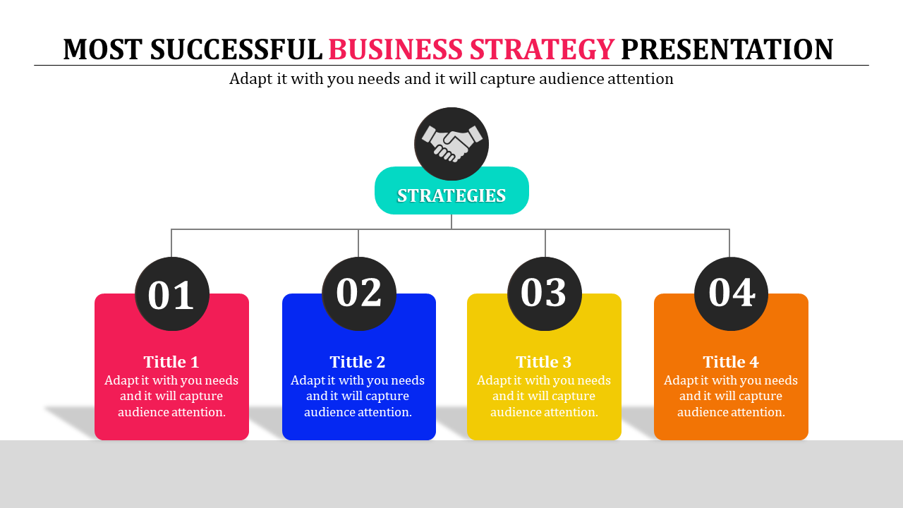 Business Strategy Presentation Powerpoint - Flow Chart Model- SlideEgg