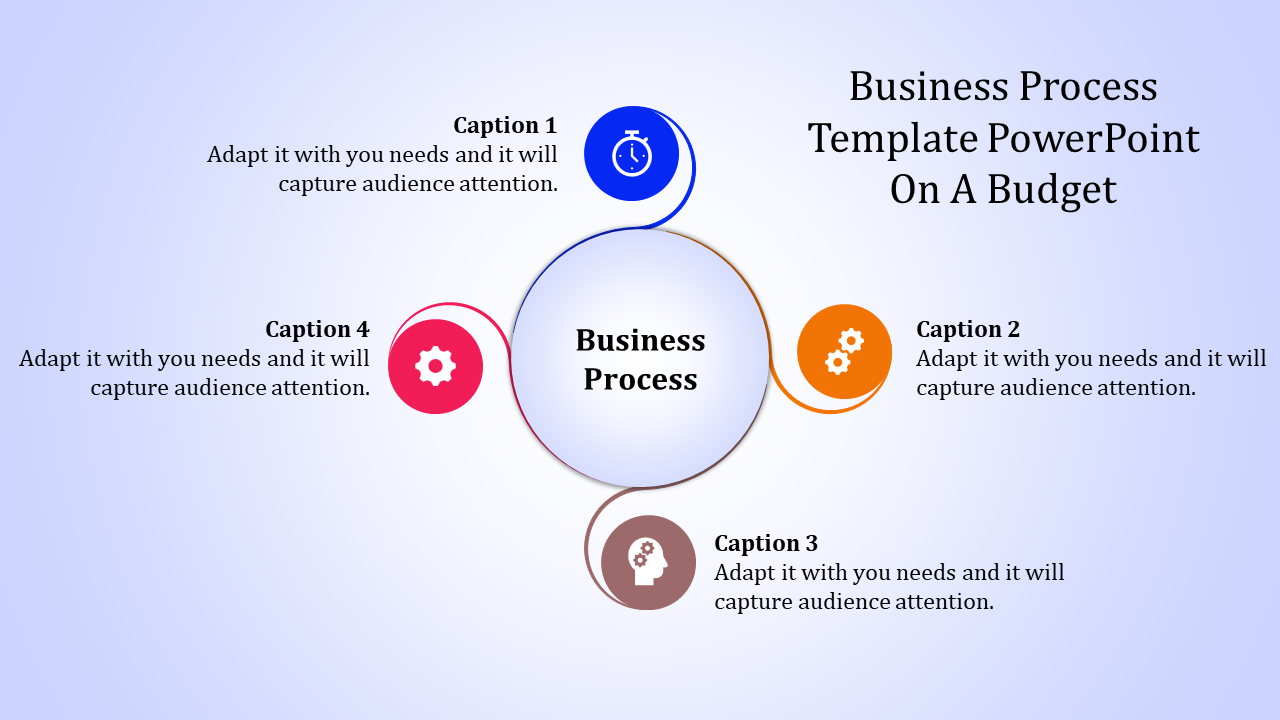 Business Process Template Powerpoint With Circle Shapes