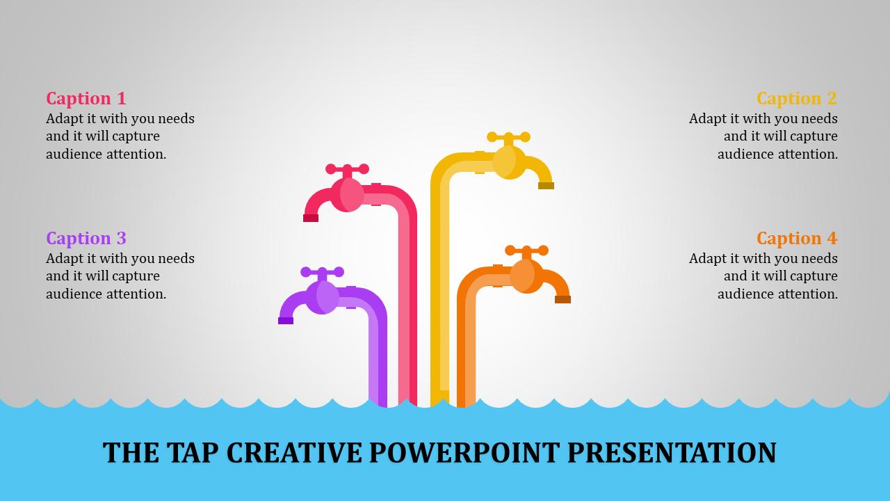 Creative Powerpoint Presentation - Four Taps