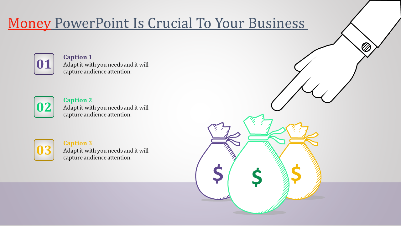 money powerpoint template - crucial to your business