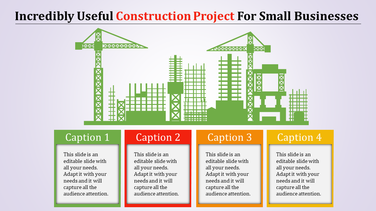 Manufacturing construction project presentation template