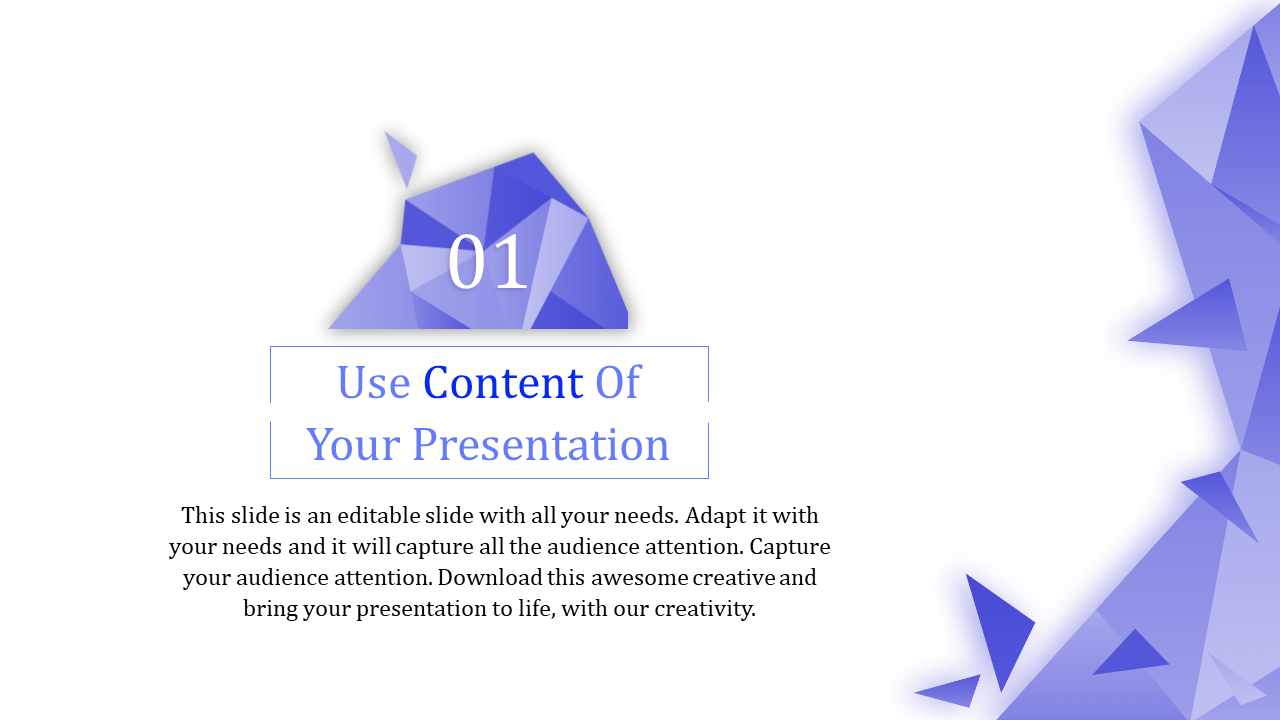 Content Powerpoint Template With Abstract Design