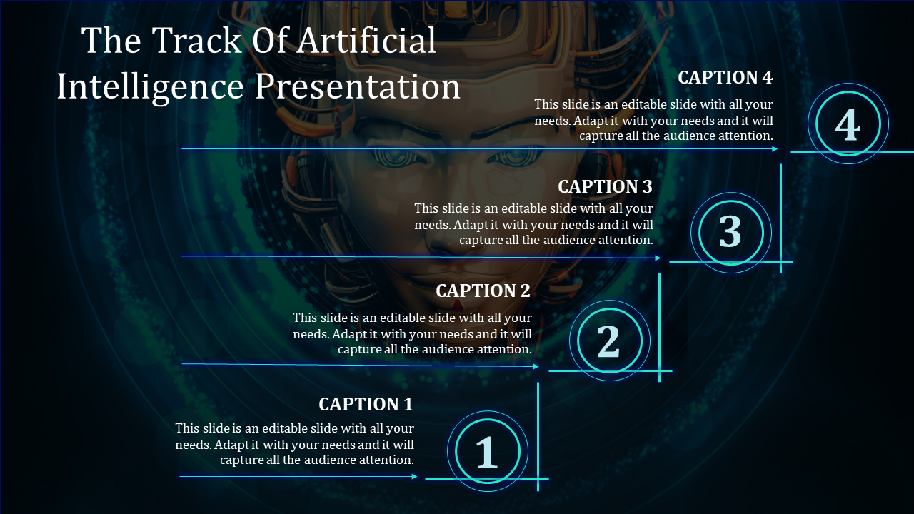 Stairs Model Artificial Intelligence Powerpoint Template