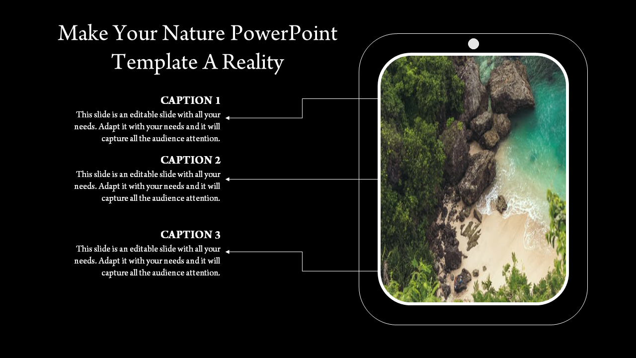 A Three Noded Nature Powerpoint Template
