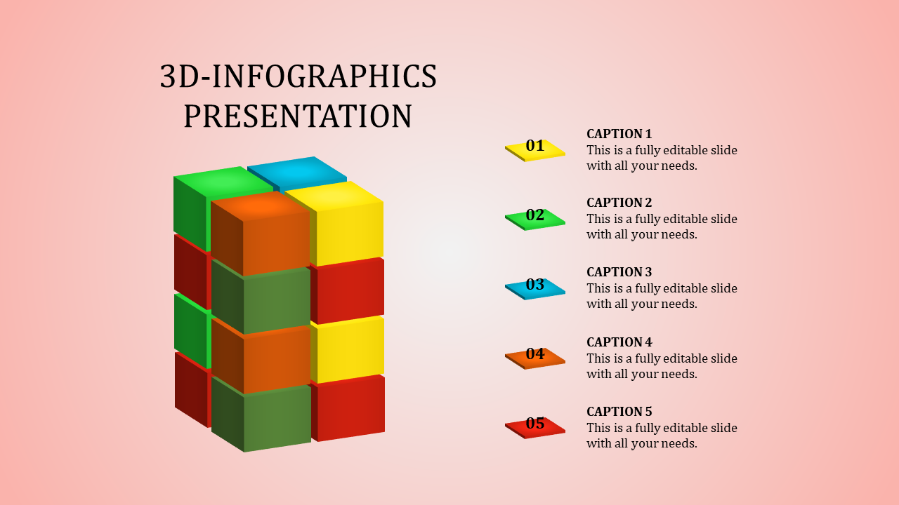 A Five Noded Infographic Presentation Template