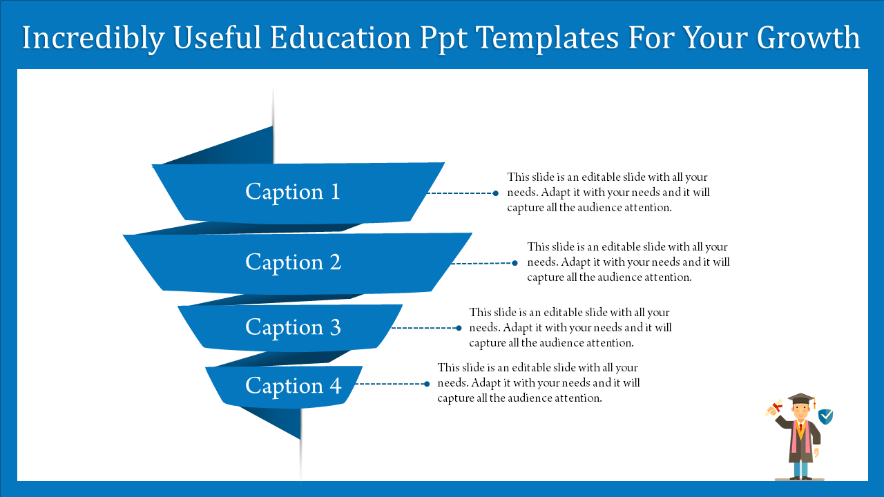 Free - A Four Noded Education PPT Templates