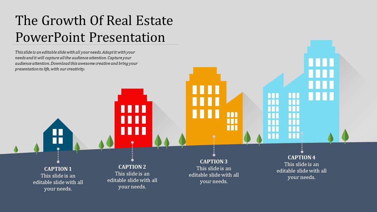 Real estate powerpoint presentation template design