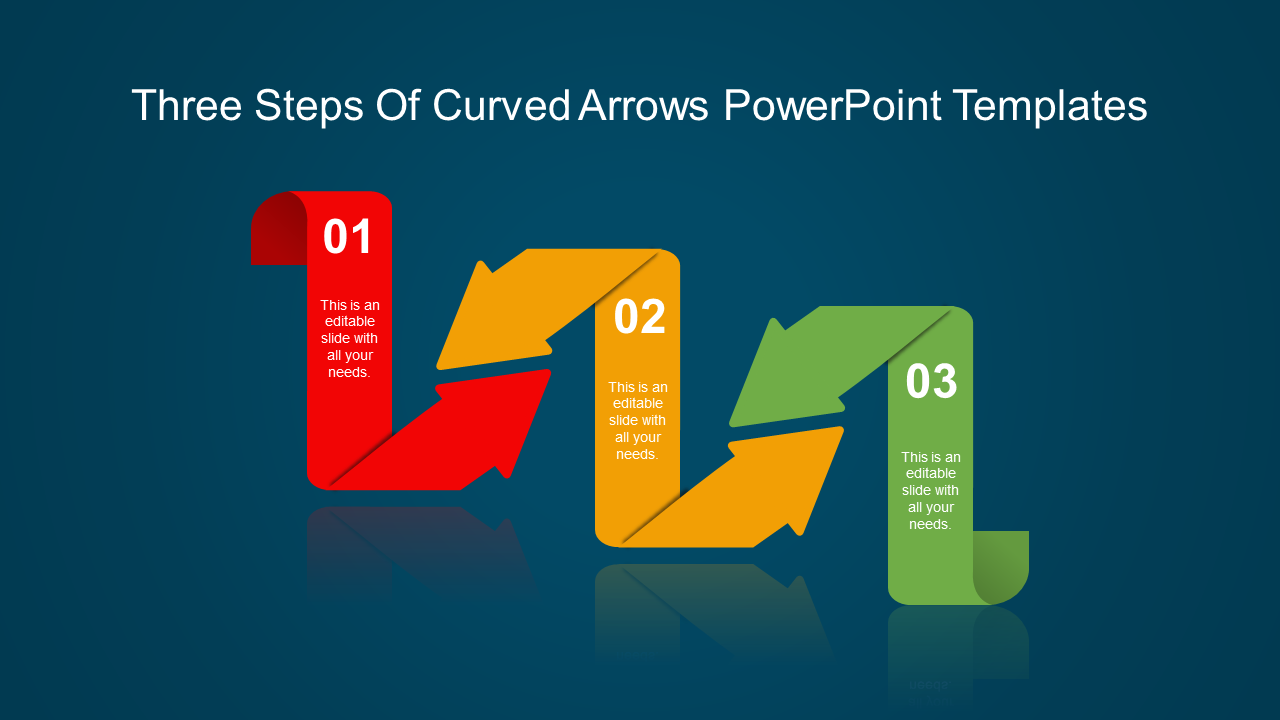Arrow PowerPoint template-L shape
