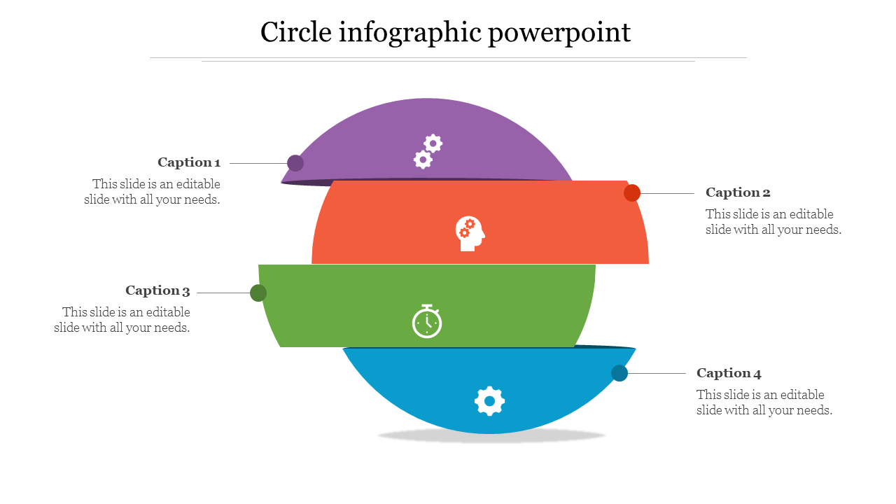Multilevel Circle Infographic Powerpoint