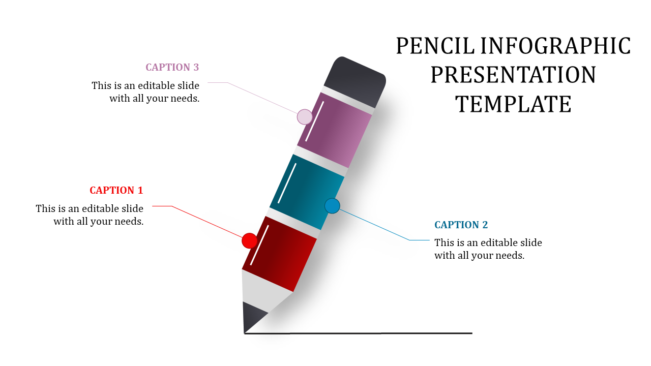 Pencil Infographic Presentation Template