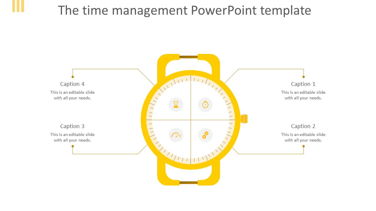 Time Management Powerpoint Template Clock Model Slideegg