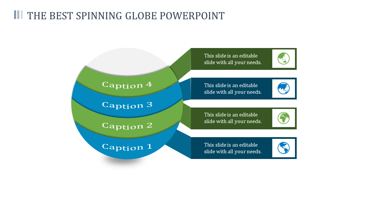 A Four Noded Spinning Globe Powerpoint