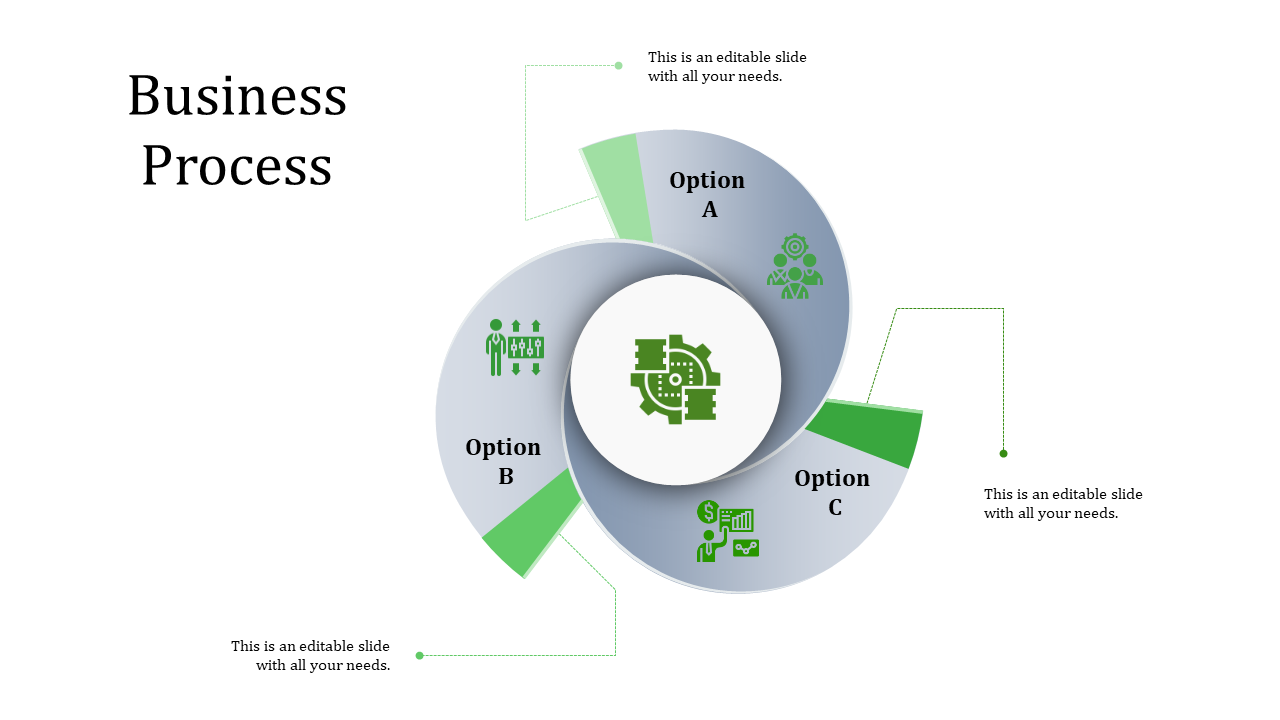 A Three Noded Business Process Powerpoint