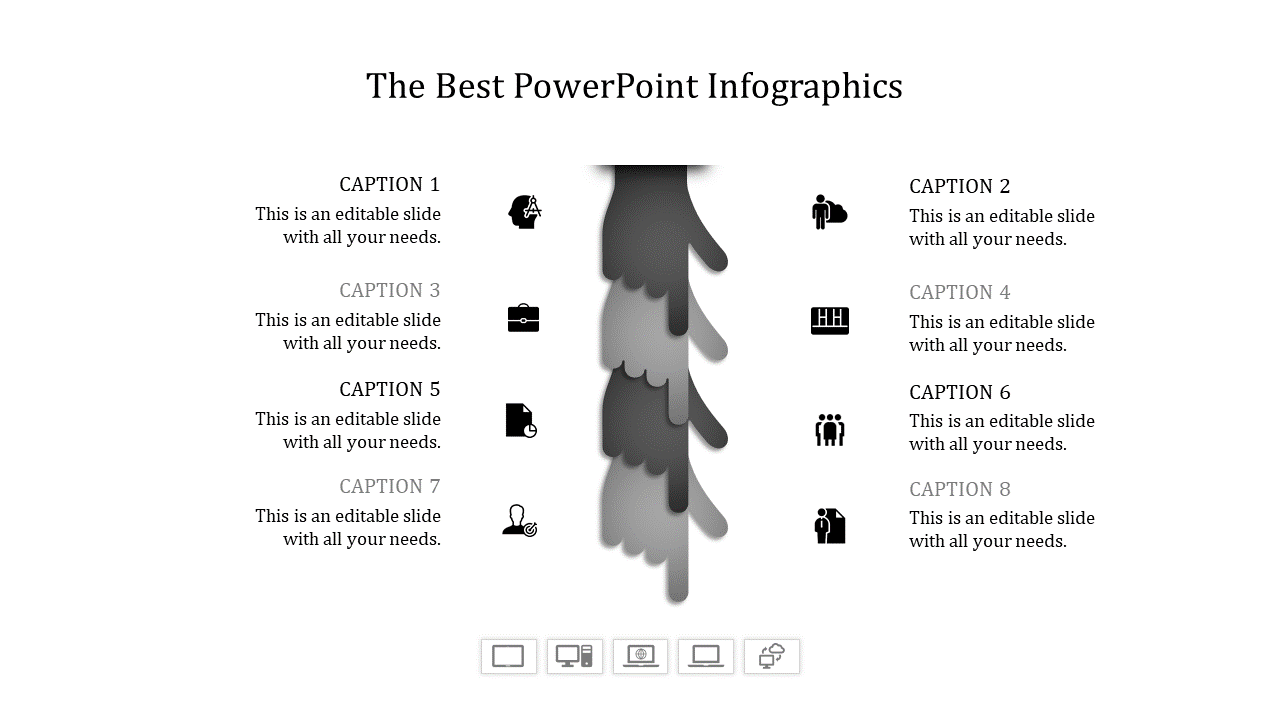 Best Powerpoint Infographic Hands Icon Set For Presentation