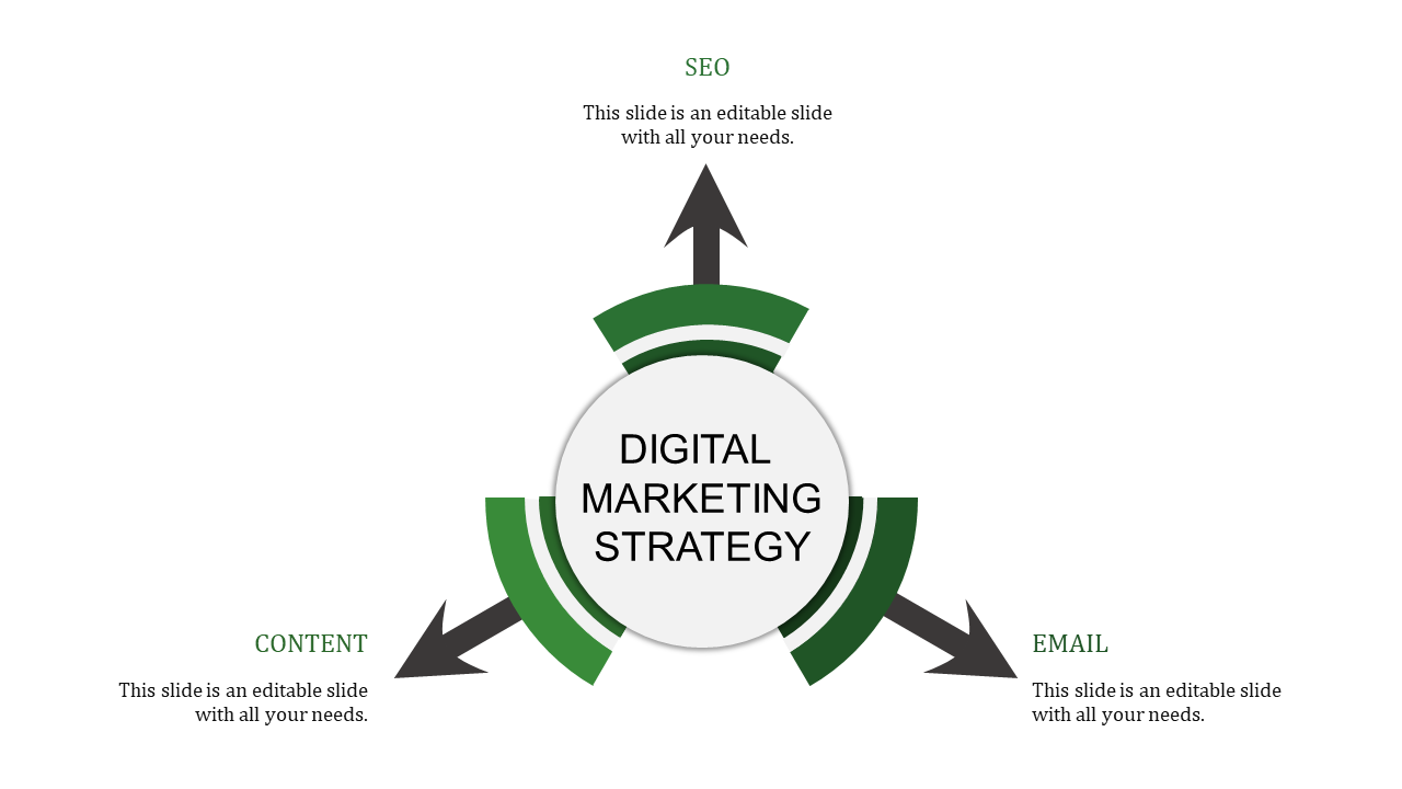 Digital Marketing Strategy Ppt Template Slideegg