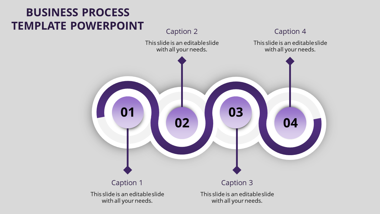 Strategy of business process template powerpoint