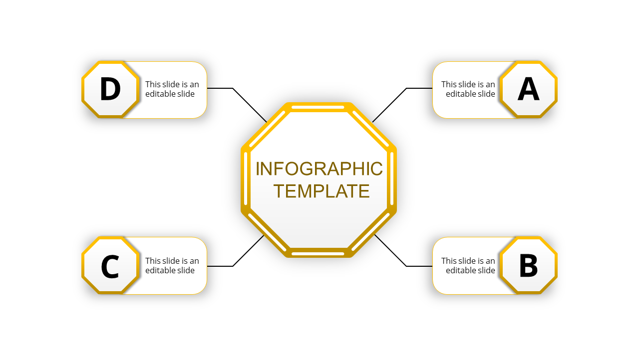 infographic presentation with editable shapes