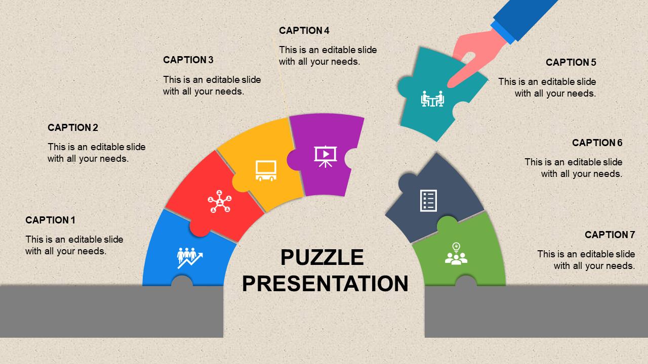 A Seven Noded Puzzle Presentation Template