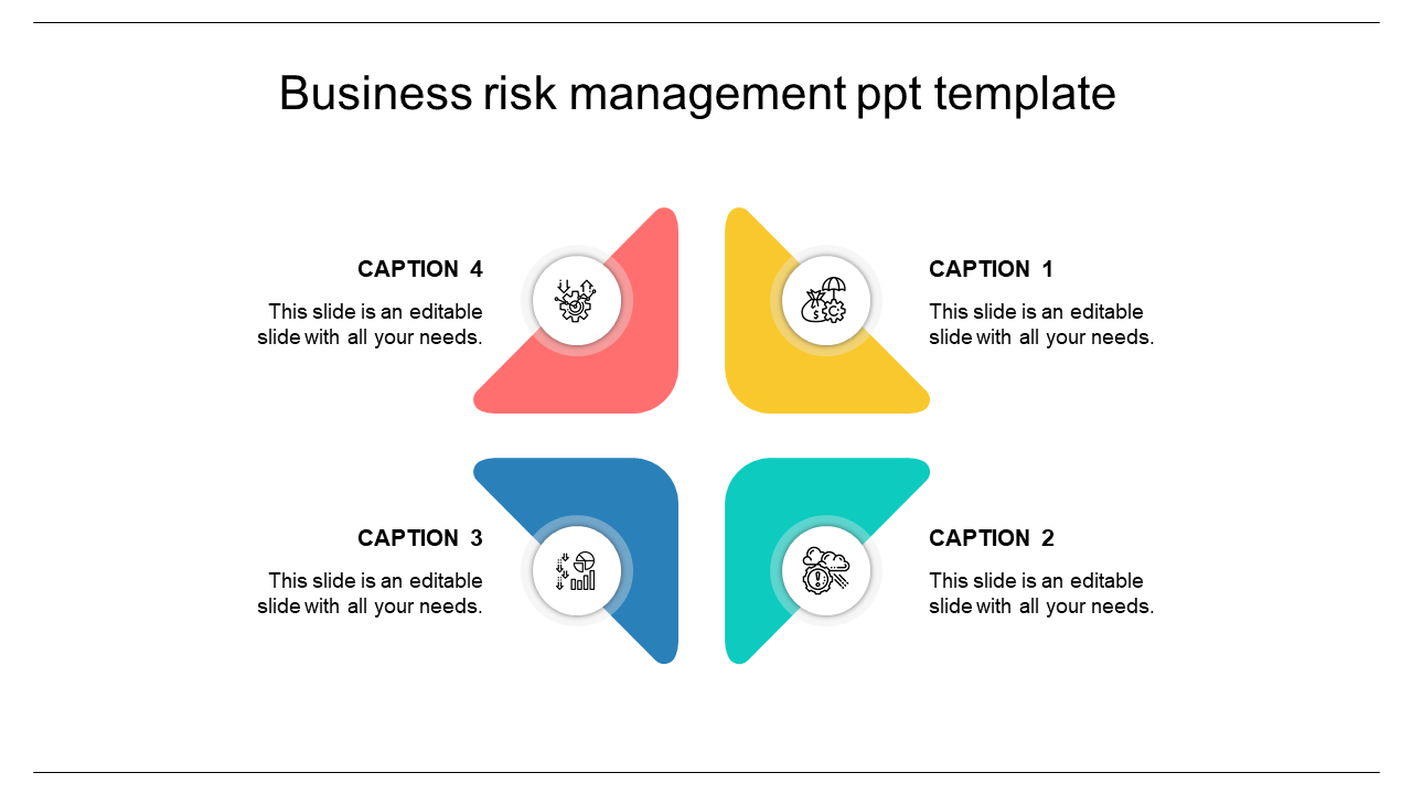 Four Process Risk Management Ppt Template Slideegg